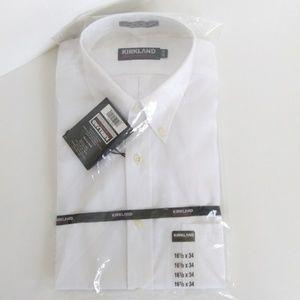 Kirkland Mens Dress Shirt 16.5 x 34